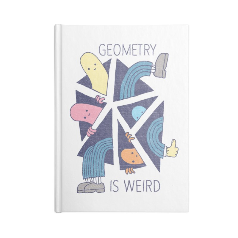 GEOMETRY IS WEIRD Accessories Lined Journal Notebook by Beanepod