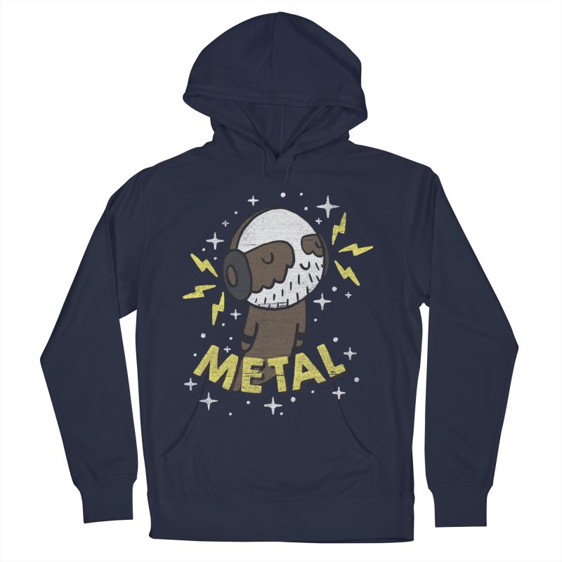 METAL IS MY CO-PILOT Women's French Terry Pullover Hoody by Beanepod
