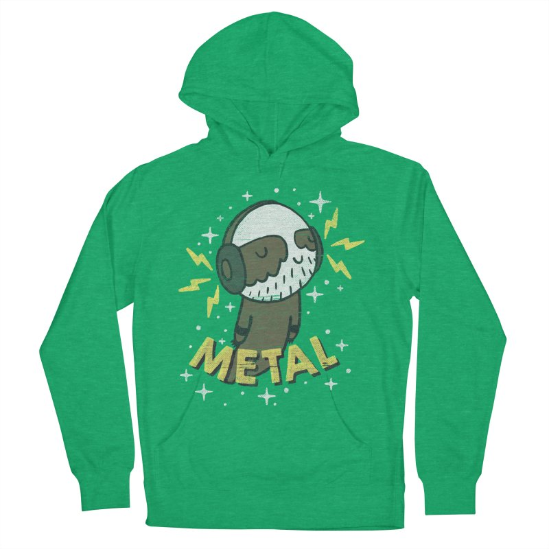 METAL IS MY CO-PILOT Men's French Terry Pullover Hoody by Beanepod