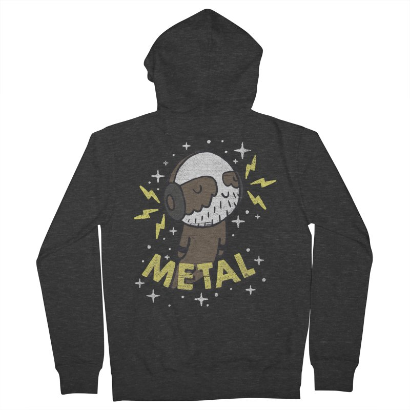 METAL IS MY CO-PILOT Women's French Terry Zip-Up Hoody by Beanepod