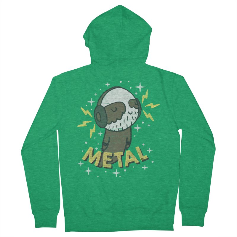 METAL IS MY CO-PILOT Men's French Terry Zip-Up Hoody by Beanepod