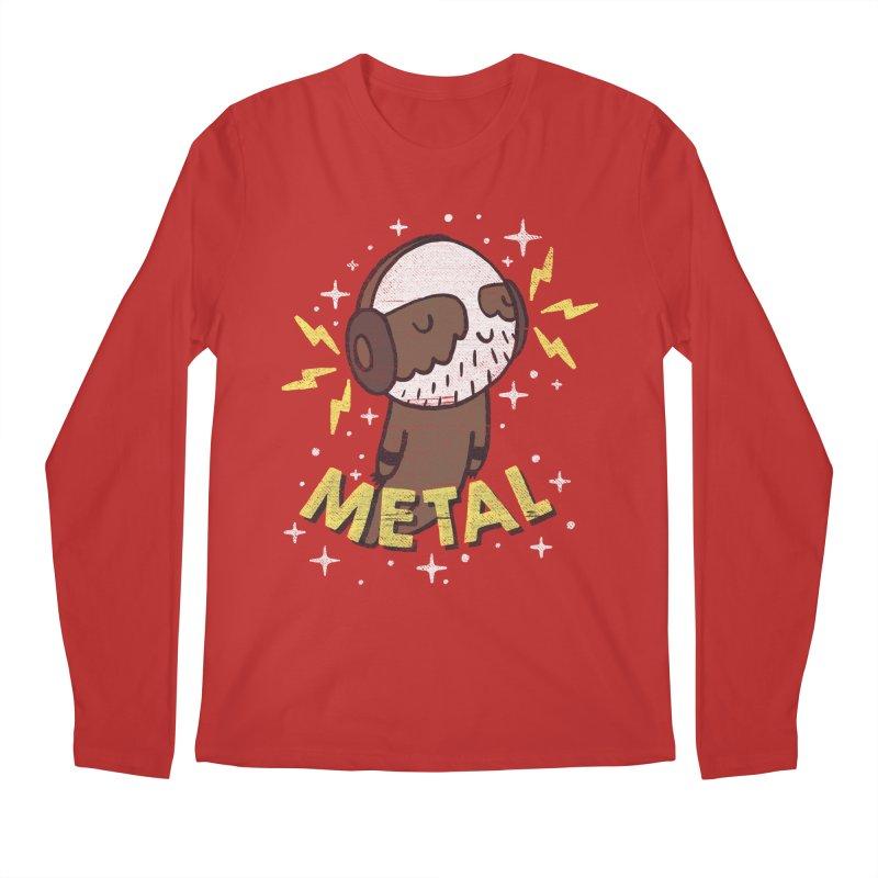 METAL IS MY CO-PILOT Men's Regular Longsleeve T-Shirt by Beanepod