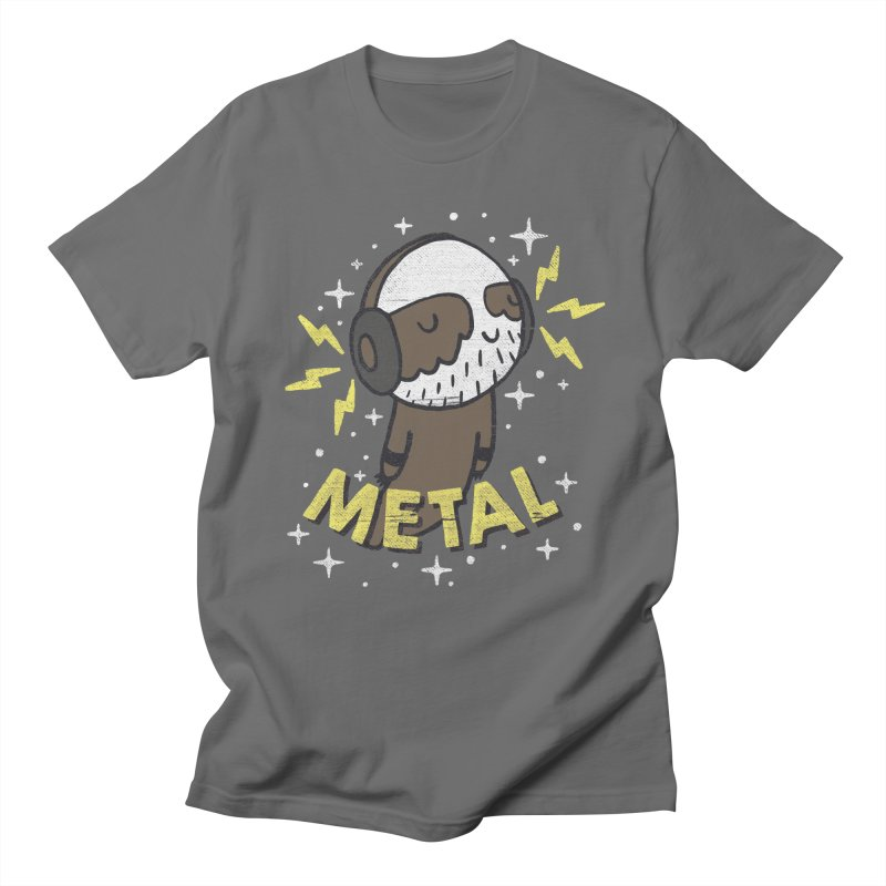 METAL IS MY CO-PILOT Men's T-Shirt by Beanepod