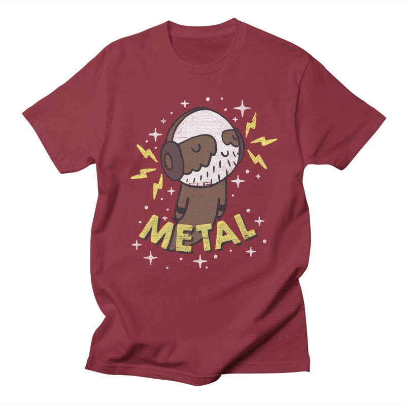 METAL IS MY CO-PILOT Men's Regular T-Shirt by Beanepod