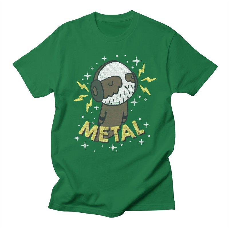 METAL IS MY CO-PILOT Men's Regular T-Shirt by Beanepod