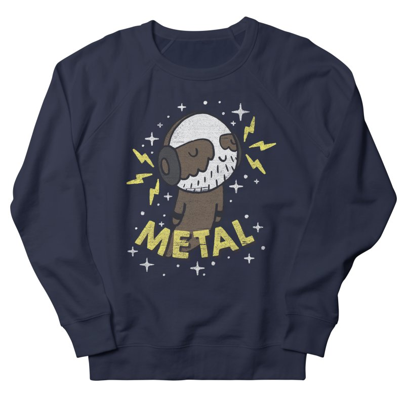METAL IS MY CO-PILOT Men's French Terry Sweatshirt by Beanepod