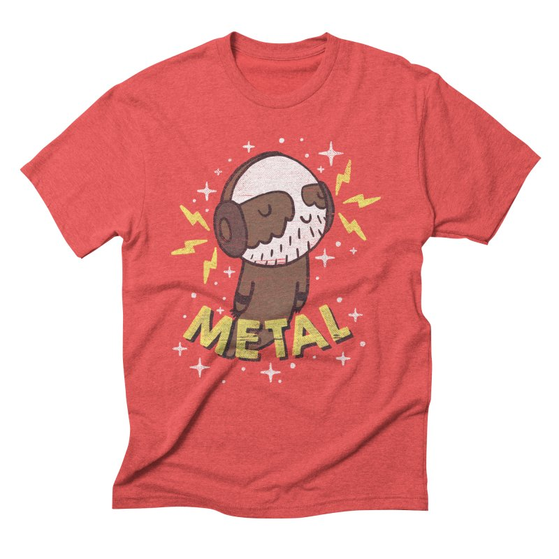 METAL IS MY CO-PILOT Men's Triblend T-shirt by Beanepod