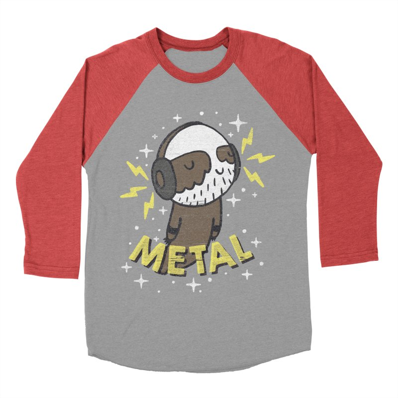 METAL IS MY CO-PILOT Men's Baseball Triblend Longsleeve T-Shirt by Beanepod