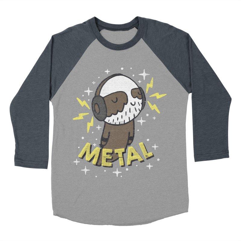 METAL IS MY CO-PILOT Men's Baseball Triblend T-Shirt by Beanepod