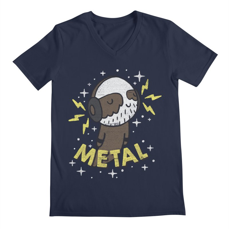 METAL IS MY CO-PILOT Men's V-Neck by Beanepod