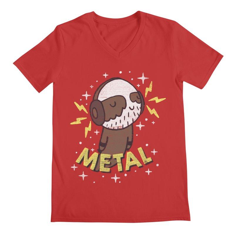 METAL IS MY CO-PILOT Men's Regular V-Neck by Beanepod