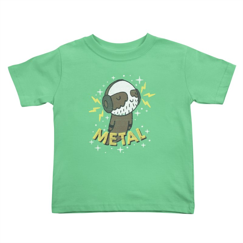 METAL IS MY CO-PILOT Kids Toddler T-Shirt by Beanepod