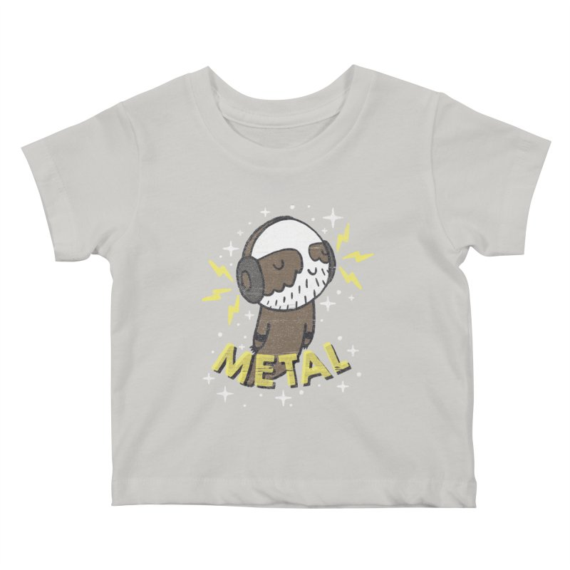 METAL IS MY CO-PILOT Kids Baby T-Shirt by Beanepod