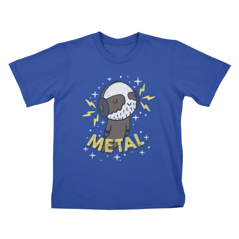 METAL IS MY CO-PILOT Kids T-Shirt by Beanepod