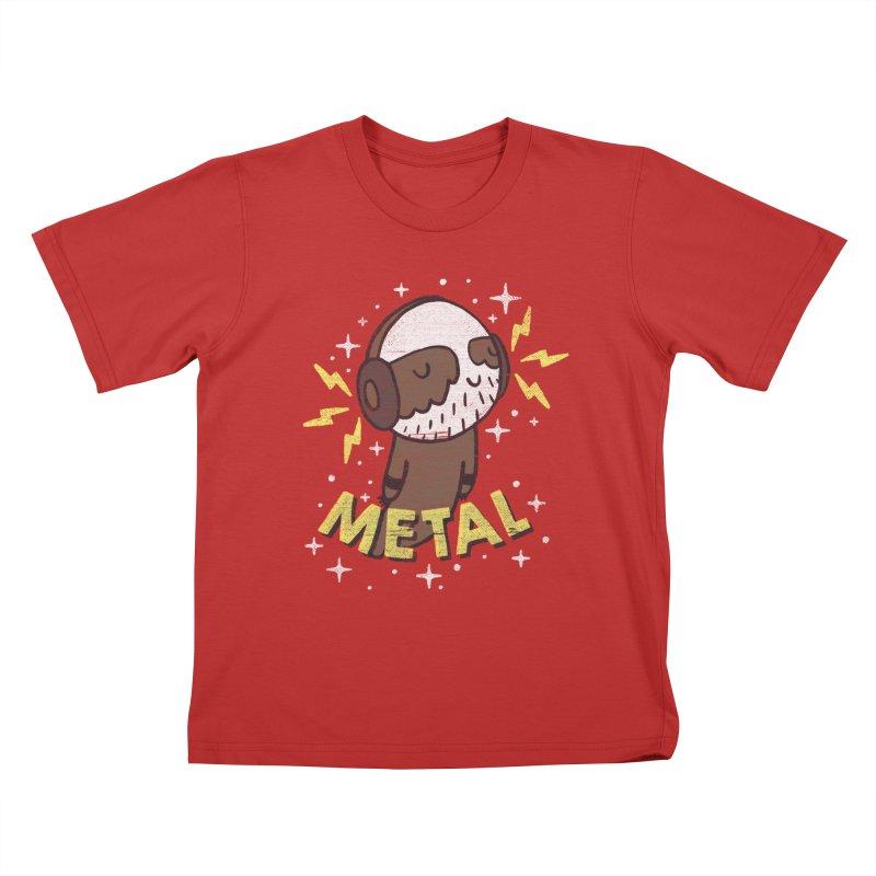 METAL IS MY CO-PILOT Kids T-shirt by Beanepod