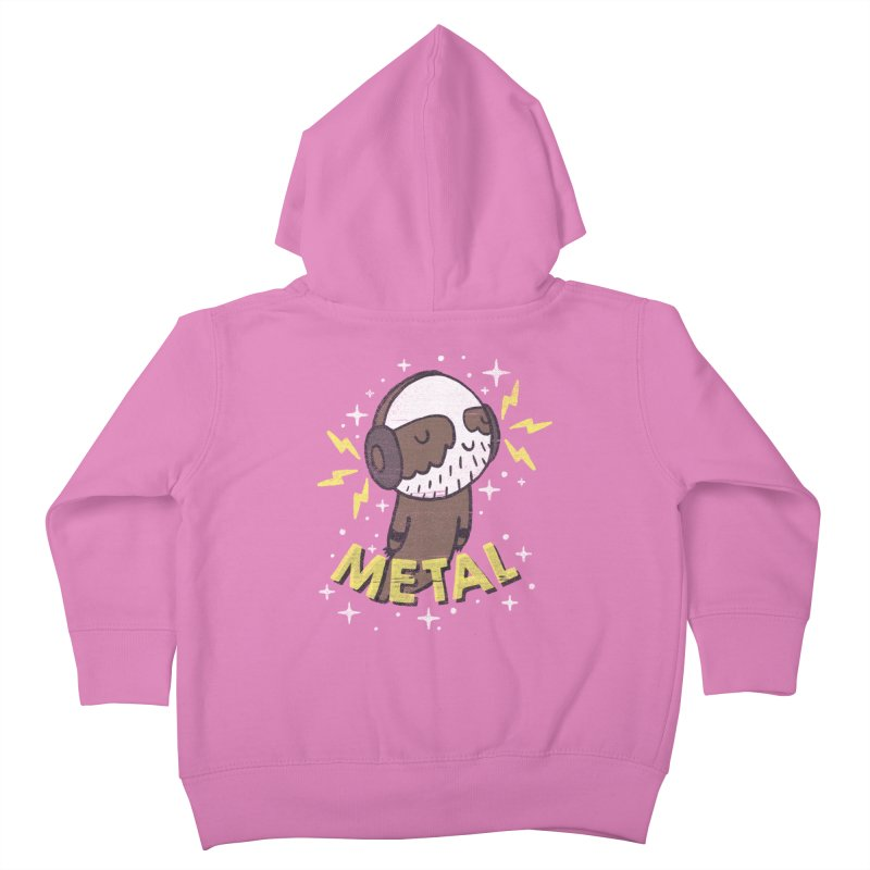 METAL IS MY CO-PILOT Kids Toddler Zip-Up Hoody by Beanepod