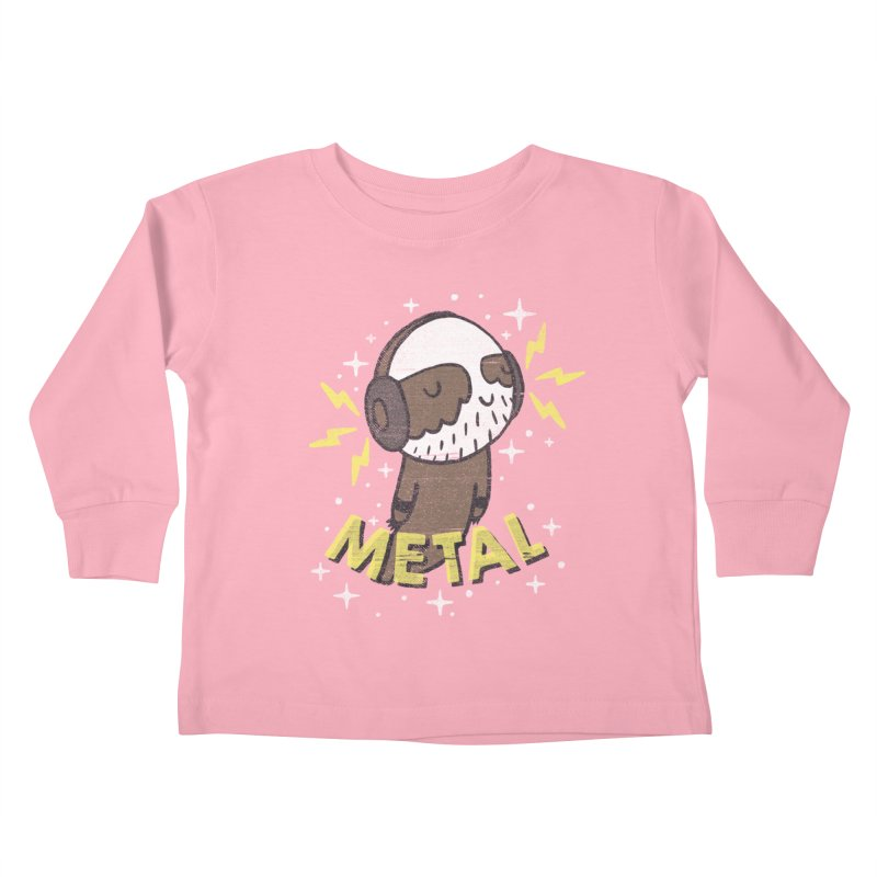 METAL IS MY CO-PILOT Kids Toddler Longsleeve T-Shirt by Beanepod