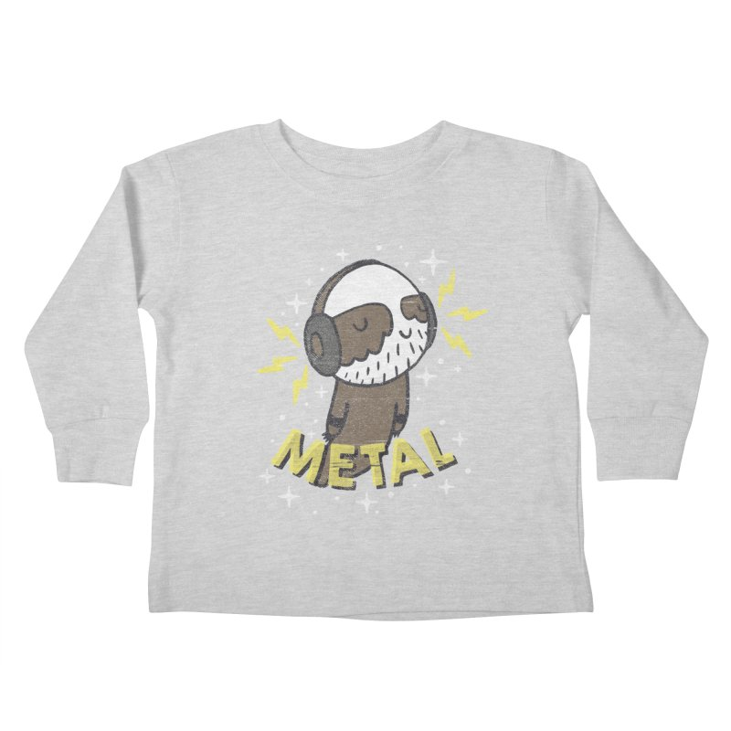 METAL IS MY CO-PILOT Kids Toddler Longsleeve T-Shirt by Beanepod