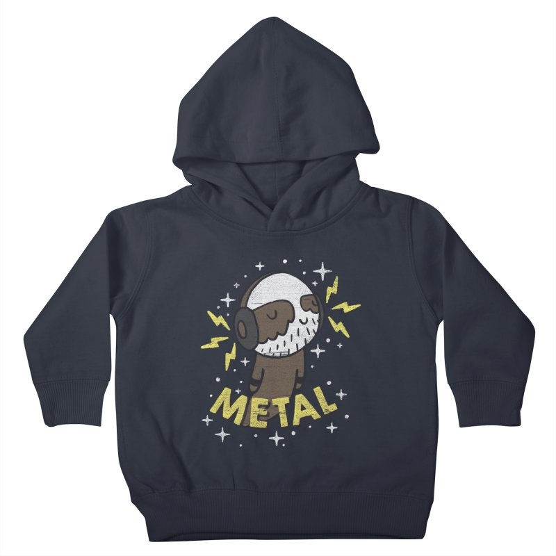 METAL IS MY CO-PILOT Kids Toddler Pullover Hoody by Beanepod