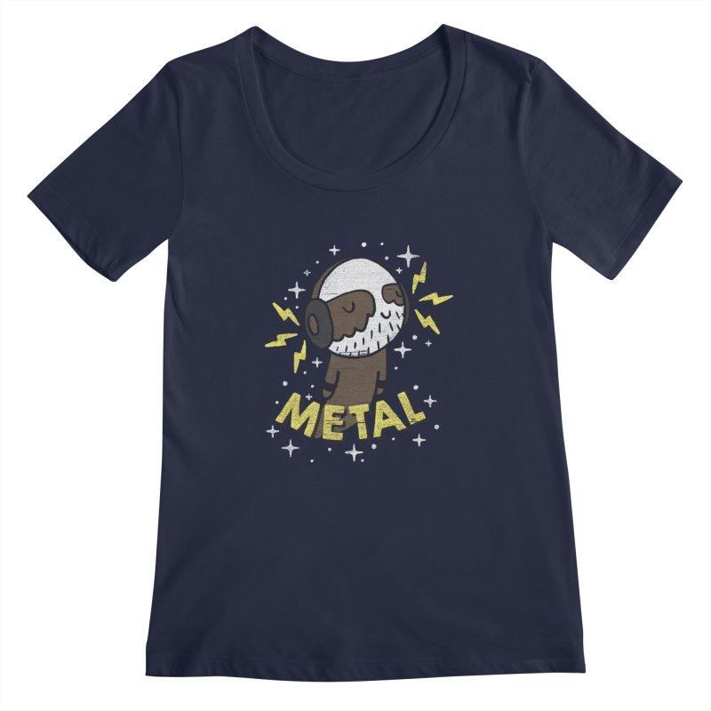 METAL IS MY CO-PILOT Women's Regular Scoop Neck by Beanepod