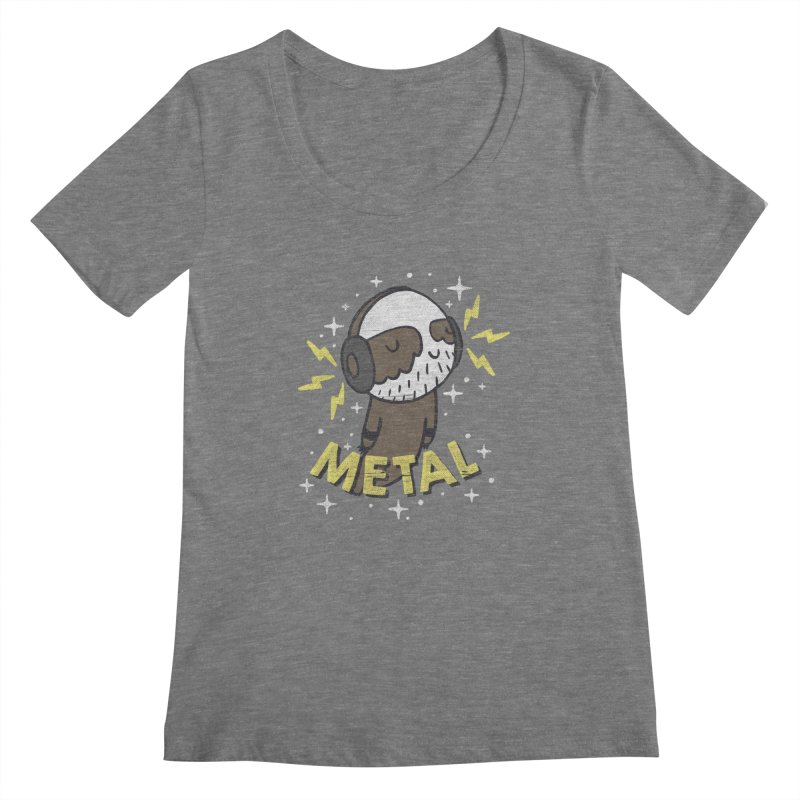 METAL IS MY CO-PILOT Women's Scoopneck by Beanepod