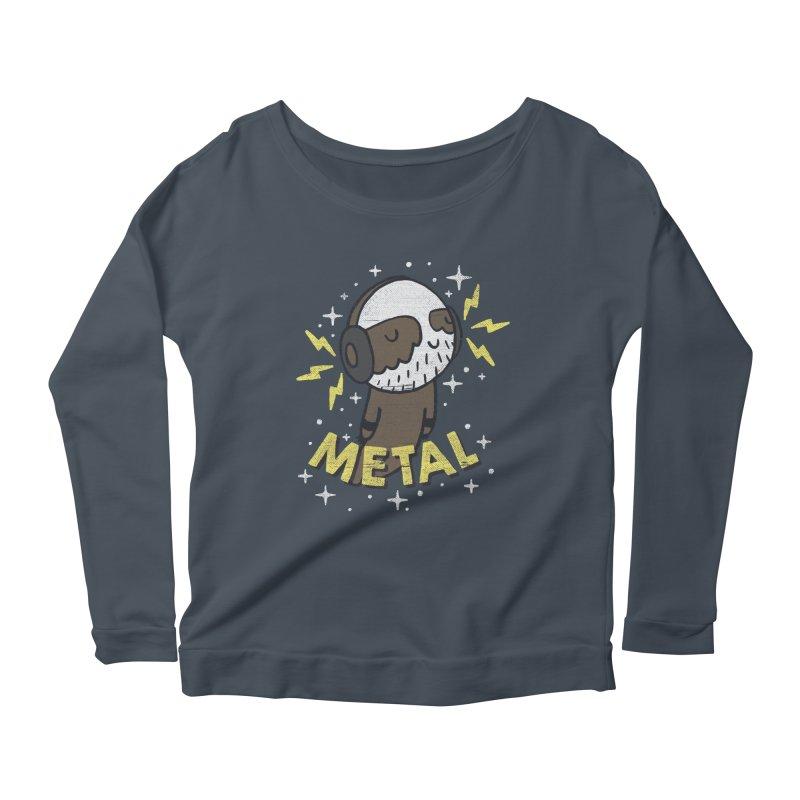 METAL IS MY CO-PILOT Women's Scoop Neck Longsleeve T-Shirt by Beanepod