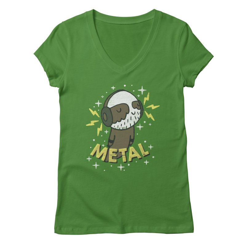 METAL IS MY CO-PILOT Women's V-Neck by Beanepod