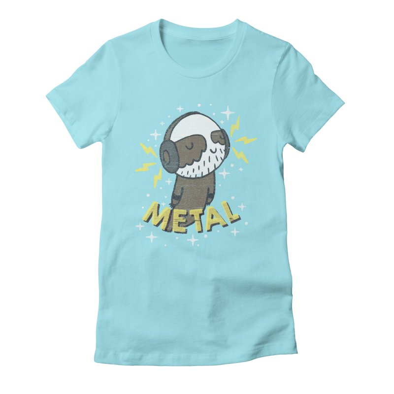 METAL IS MY CO-PILOT Women's Fitted T-Shirt by Beanepod