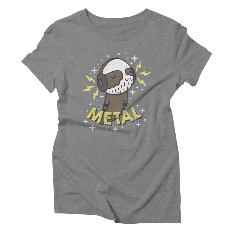 METAL IS MY CO-PILOT Women's Triblend T-shirt by Beanepod