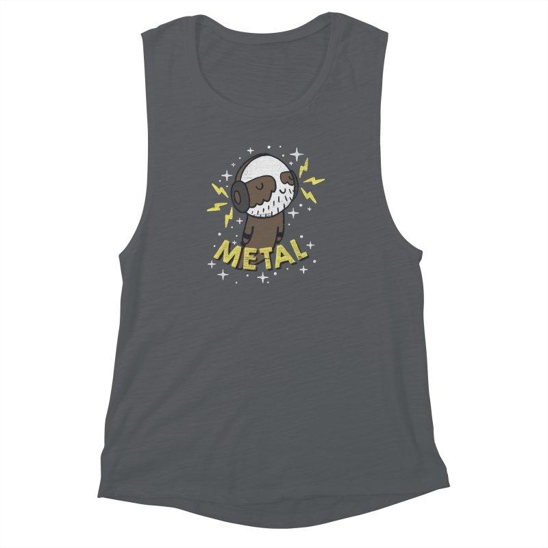 METAL IS MY CO-PILOT Women's Muscle Tank by Beanepod