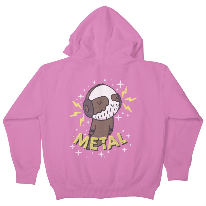 METAL IS MY CO-PILOT Kids Zip-Up Hoody by Beanepod