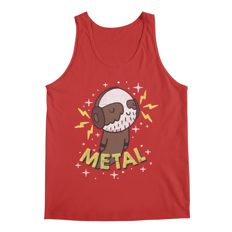 METAL IS MY CO-PILOT Men's Regular Tank by Beanepod
