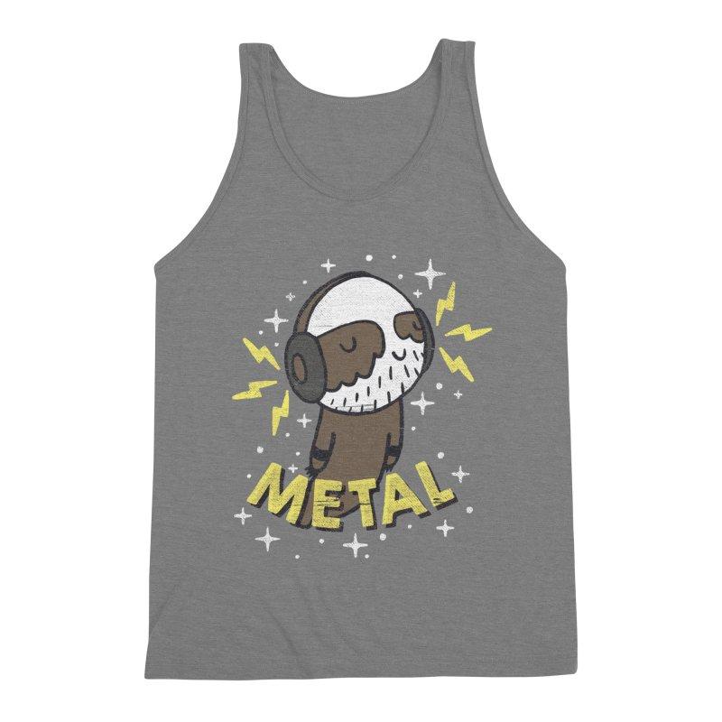 METAL IS MY CO-PILOT Men's Triblend Tank by Beanepod