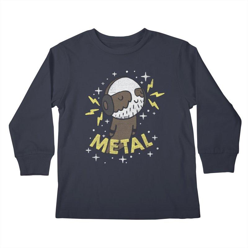 METAL IS MY CO-PILOT Kids Longsleeve T-Shirt by Beanepod