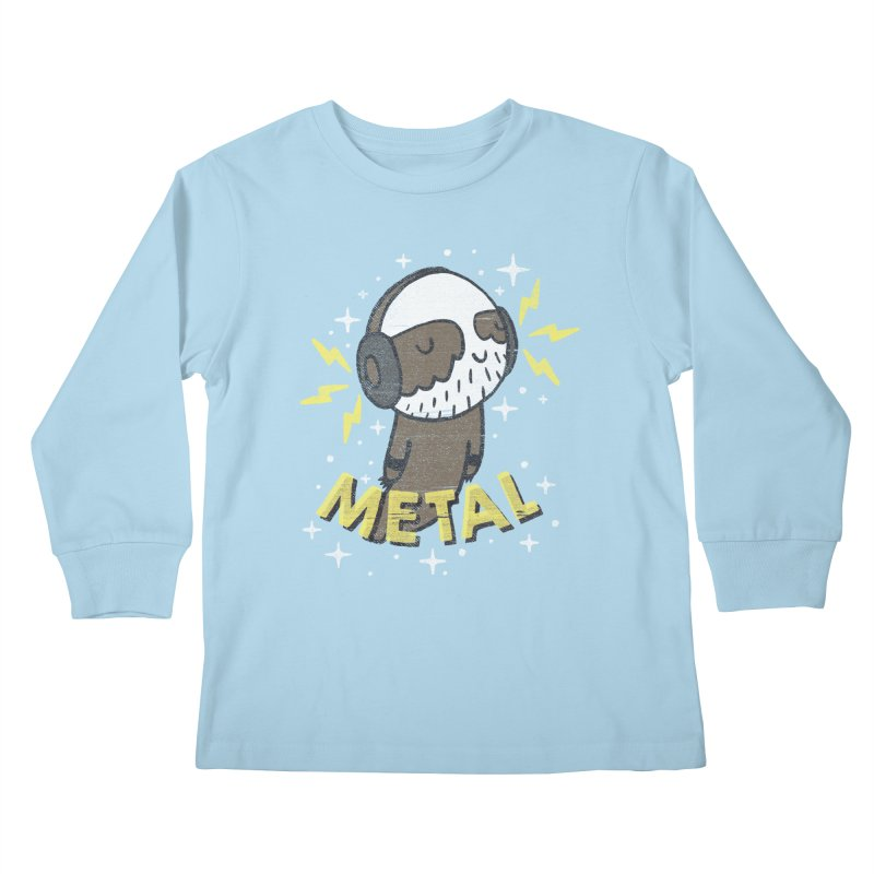 METAL IS MY CO-PILOT Kids Longsleeve T-Shirt by Beanepod