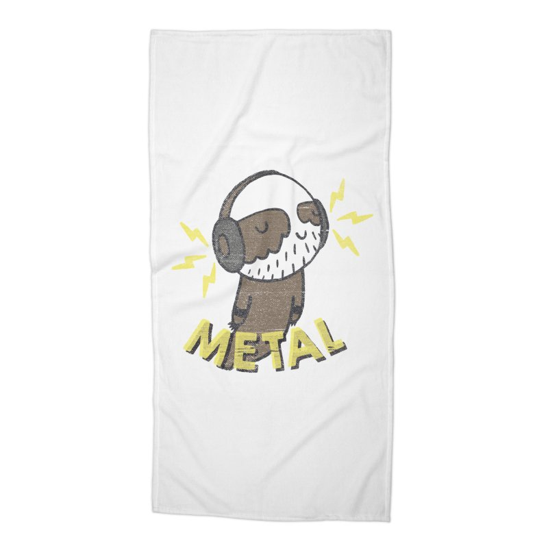 METAL IS MY CO-PILOT Accessories Beach Towel by Beanepod