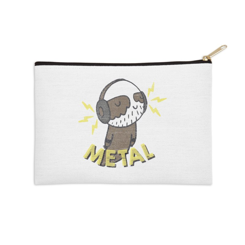 METAL IS MY CO-PILOT Accessories Zip Pouch by Beanepod