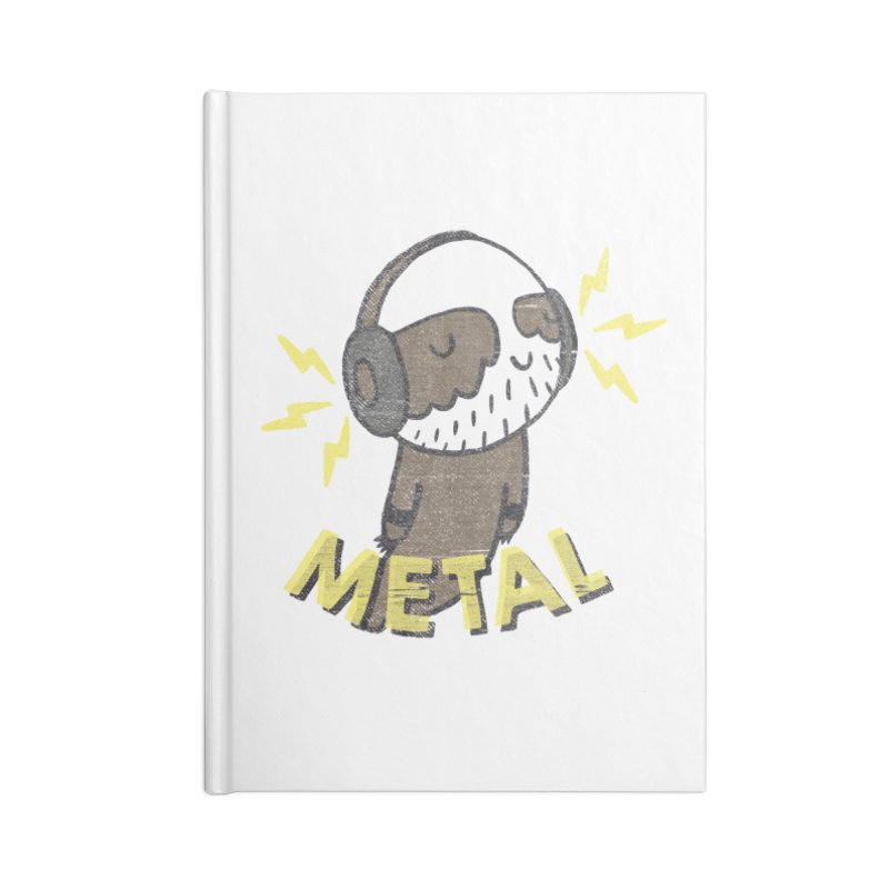 METAL IS MY CO-PILOT Accessories Lined Journal Notebook by Beanepod