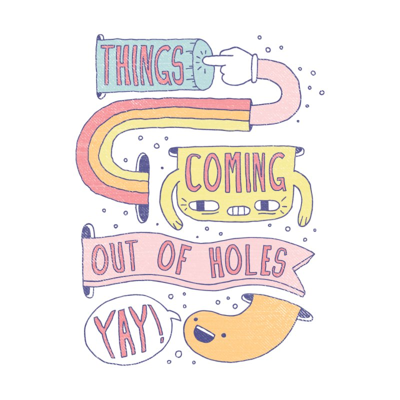 THINGS COMING OUT OF HOLES YAY! Kids T-Shirt by Beanepod