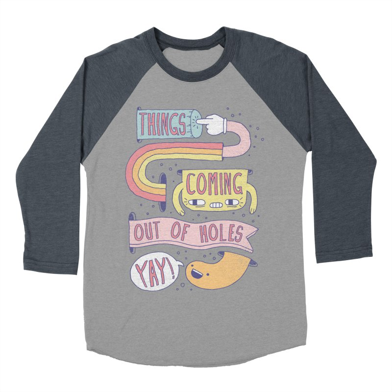 THINGS COMING OUT OF HOLES YAY! Men's Baseball Triblend Longsleeve T-Shirt by Beanepod