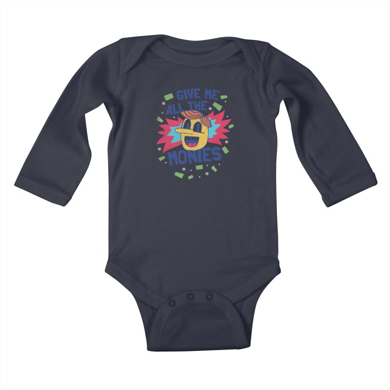 CAPITALISM IS AWESOME! Kids Baby Longsleeve Bodysuit by Beanepod