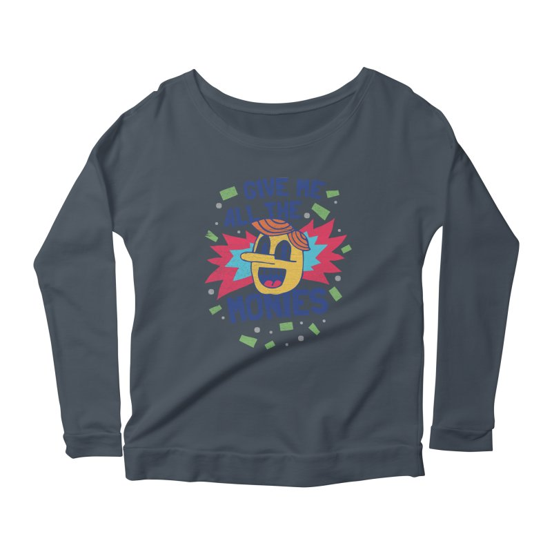 CAPITALISM IS AWESOME! Women's Scoop Neck Longsleeve T-Shirt by Beanepod