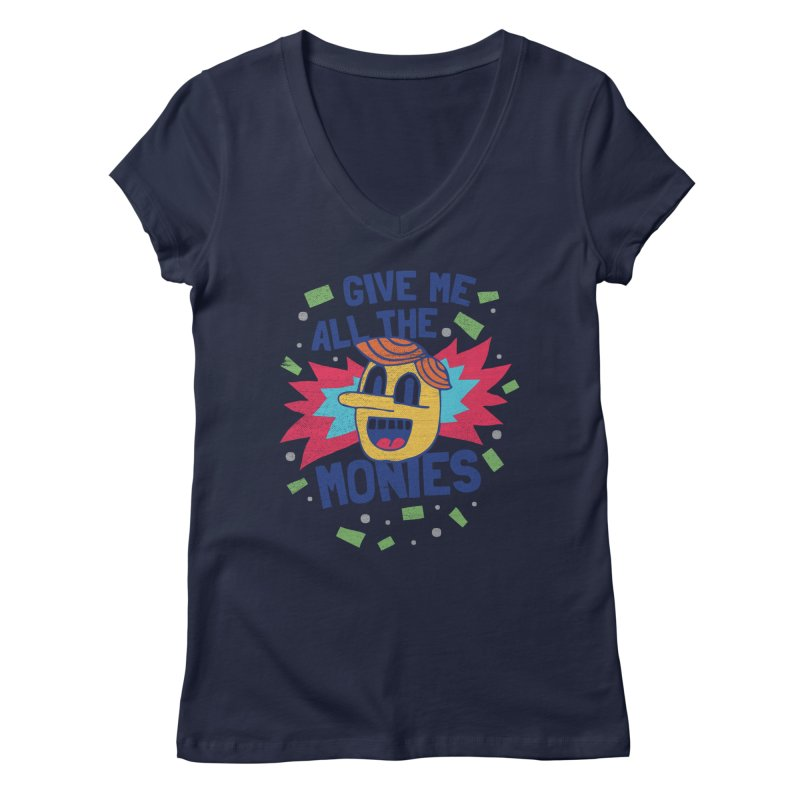 CAPITALISM IS AWESOME! Women's V-Neck by Beanepod