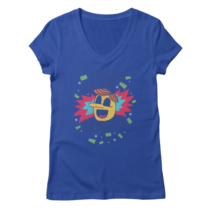 CAPITALISM IS AWESOME! Women's Regular V-Neck by Beanepod