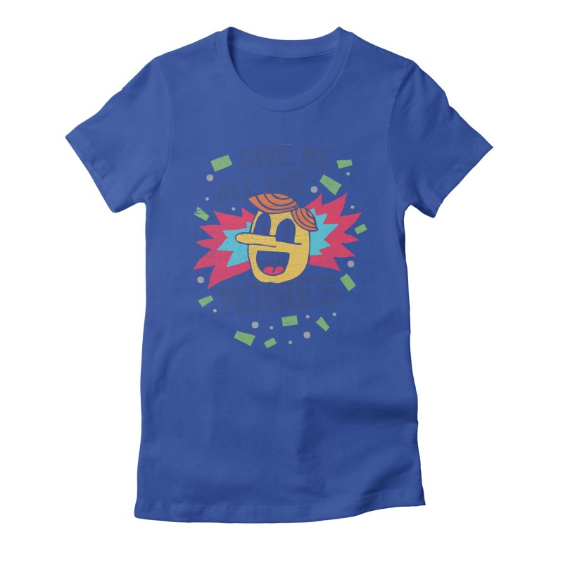 CAPITALISM IS AWESOME! Women's Fitted T-Shirt by Beanepod