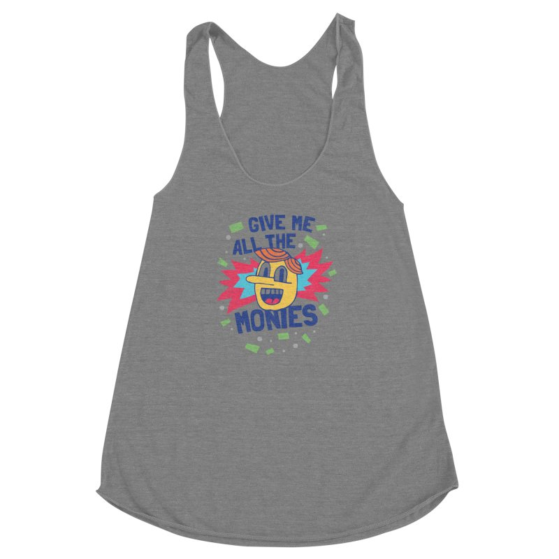 CAPITALISM IS AWESOME! Women's Racerback Triblend Tank by Beanepod