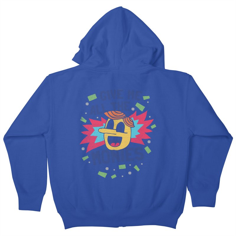 CAPITALISM IS AWESOME! Kids Zip-Up Hoody by Beanepod