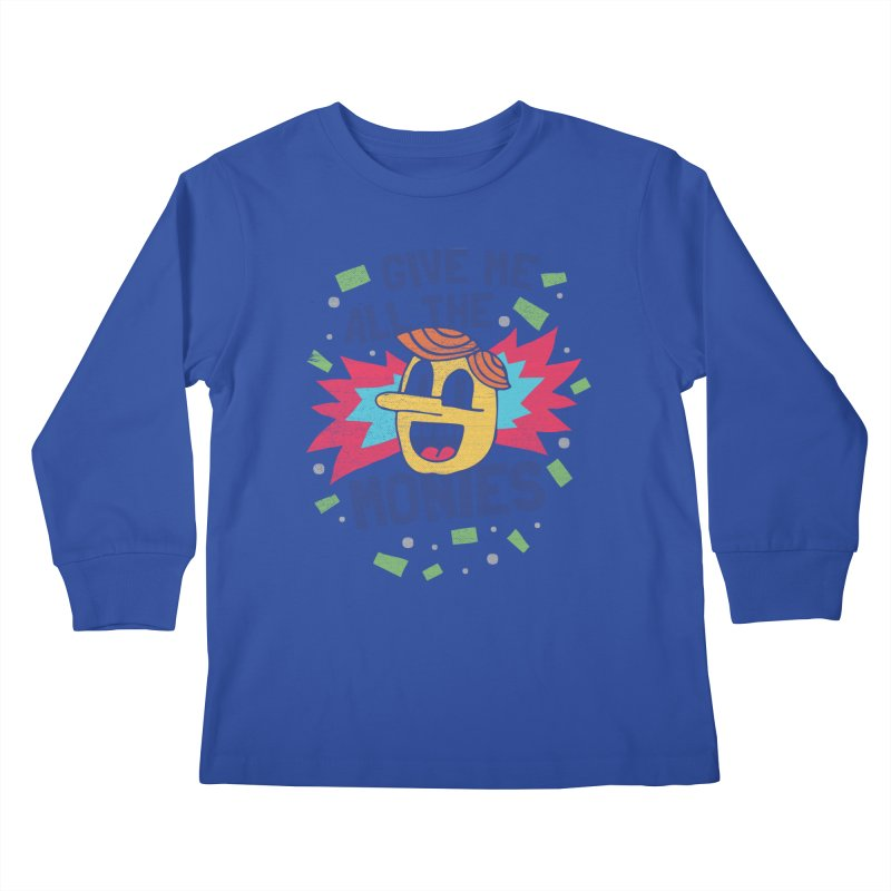 CAPITALISM IS AWESOME! Kids Longsleeve T-Shirt by Beanepod