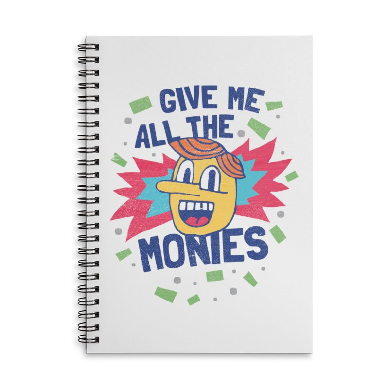 CAPITALISM IS AWESOME! Accessories Lined Spiral Notebook by Beanepod