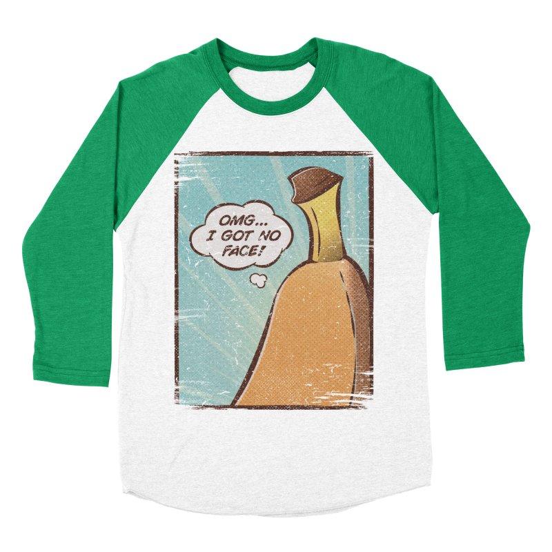OMG... I GOT NO FACE! Men's Baseball Triblend Longsleeve T-Shirt by Beanepod